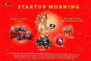 Startup Morning - Chương trình mua nguồn camera Startup tặng xe oto Kia Morning
